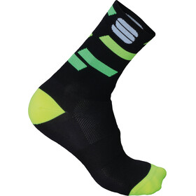 Sportful Flair 15 Socks black/yellow fluo/green fluo